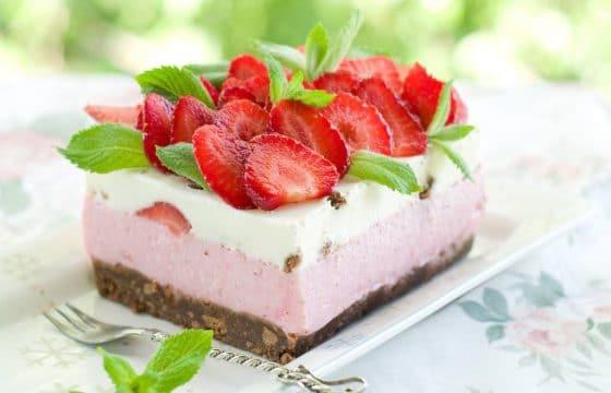 草莓橄榄油蛋糕