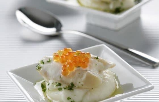 花椰菜奶油配鳕鱼