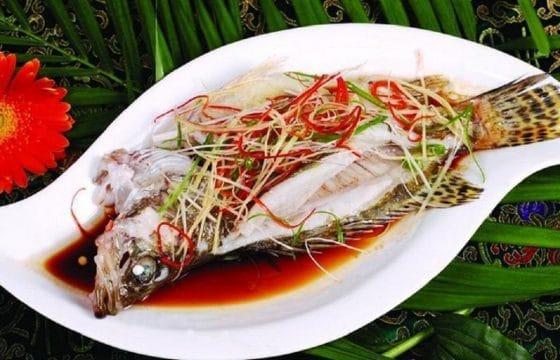 地中海式清蒸鲑鱼