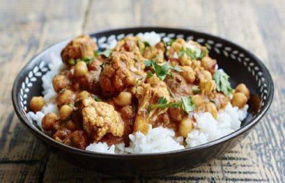 菜花咖喱鹰嘴豆