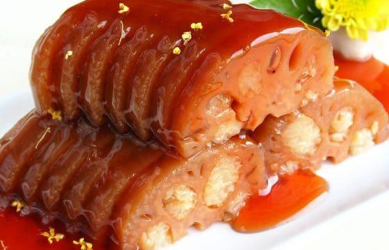 传统江南小吃:桂花糖藕做法