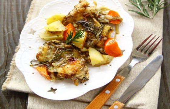 橄榄油食谱:迷迭香烤鸡腿
