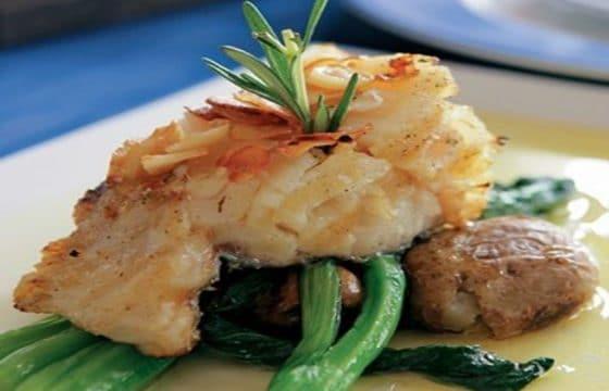 橄榄油煎鳕鱼