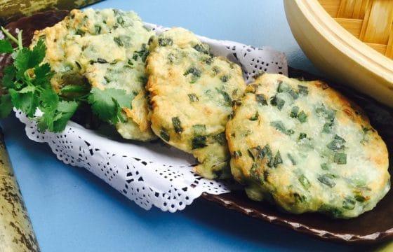 橄榄油制作韭菜煎饼