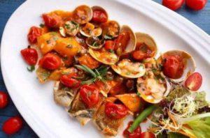 橄榄油食谱-番茄烩蛤蜊